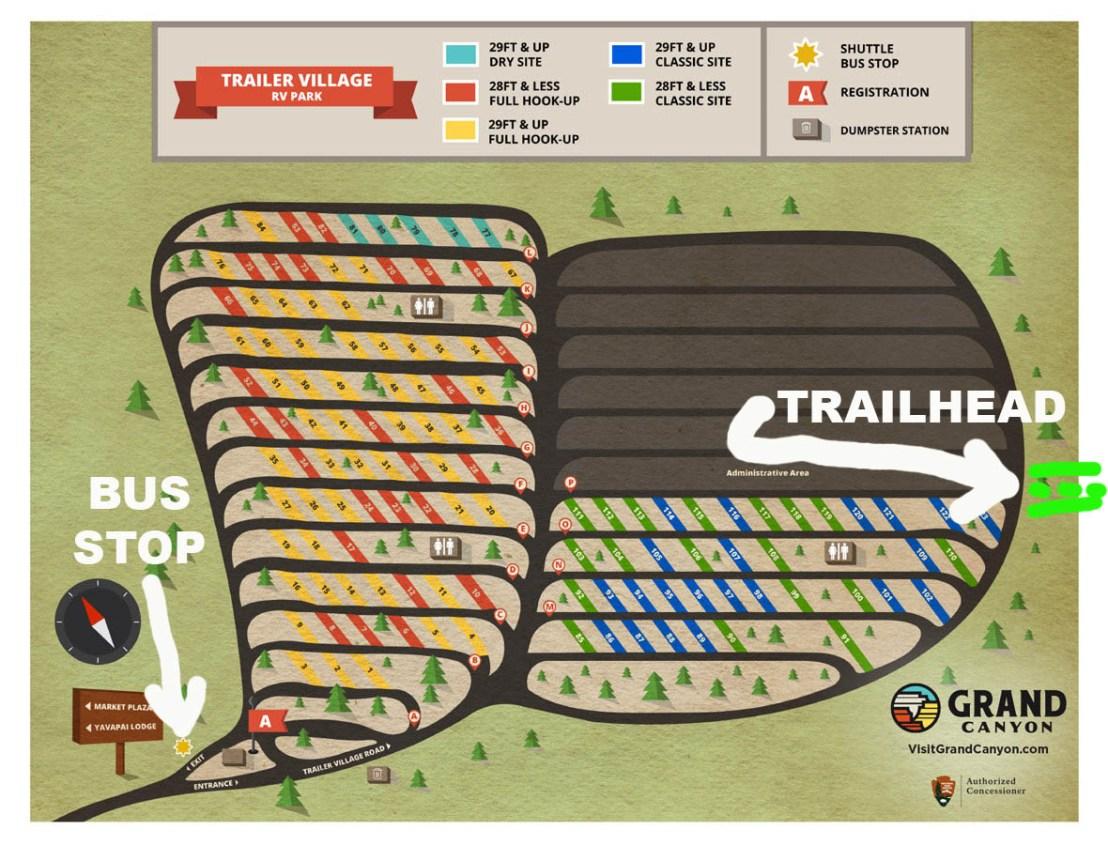 Trailer Village RV Park Annotated Map