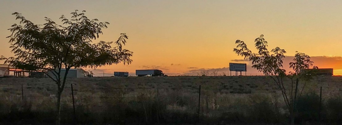 Sunrise Campsite Interstate 40 Views