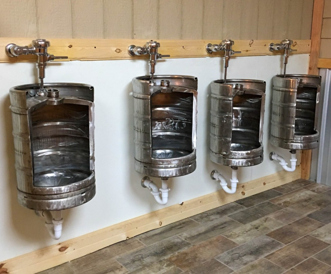 Beer Keg Restroom Urinals