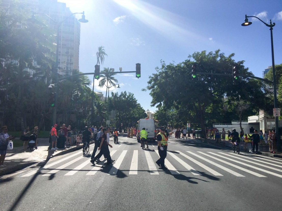 Kalakaua Avenue Opening Up Behind The Last Marchers