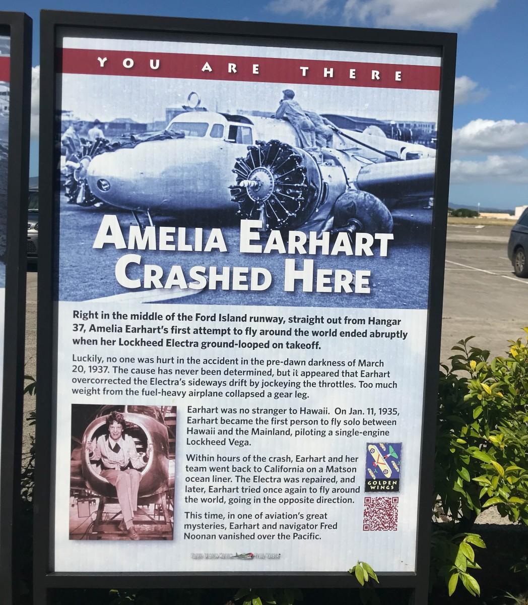 Amelia Earhart Crashed Here On Ford Island