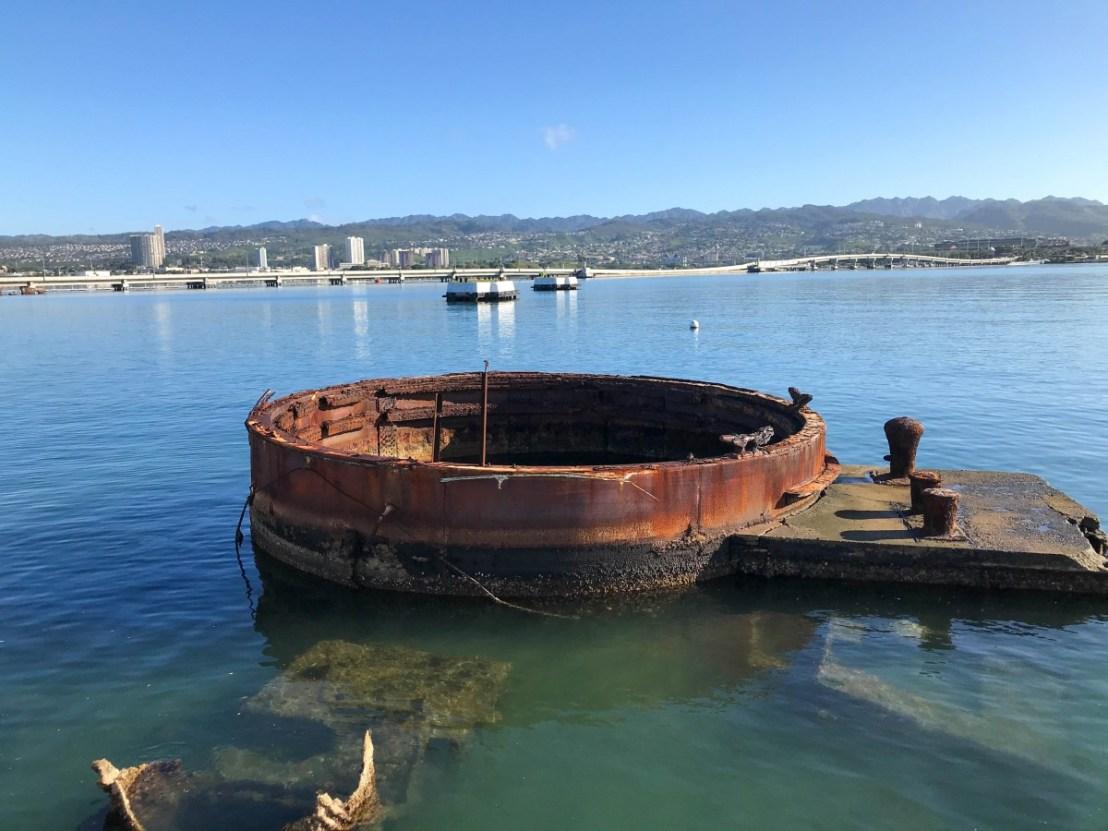 USS Arizona Gun Turret