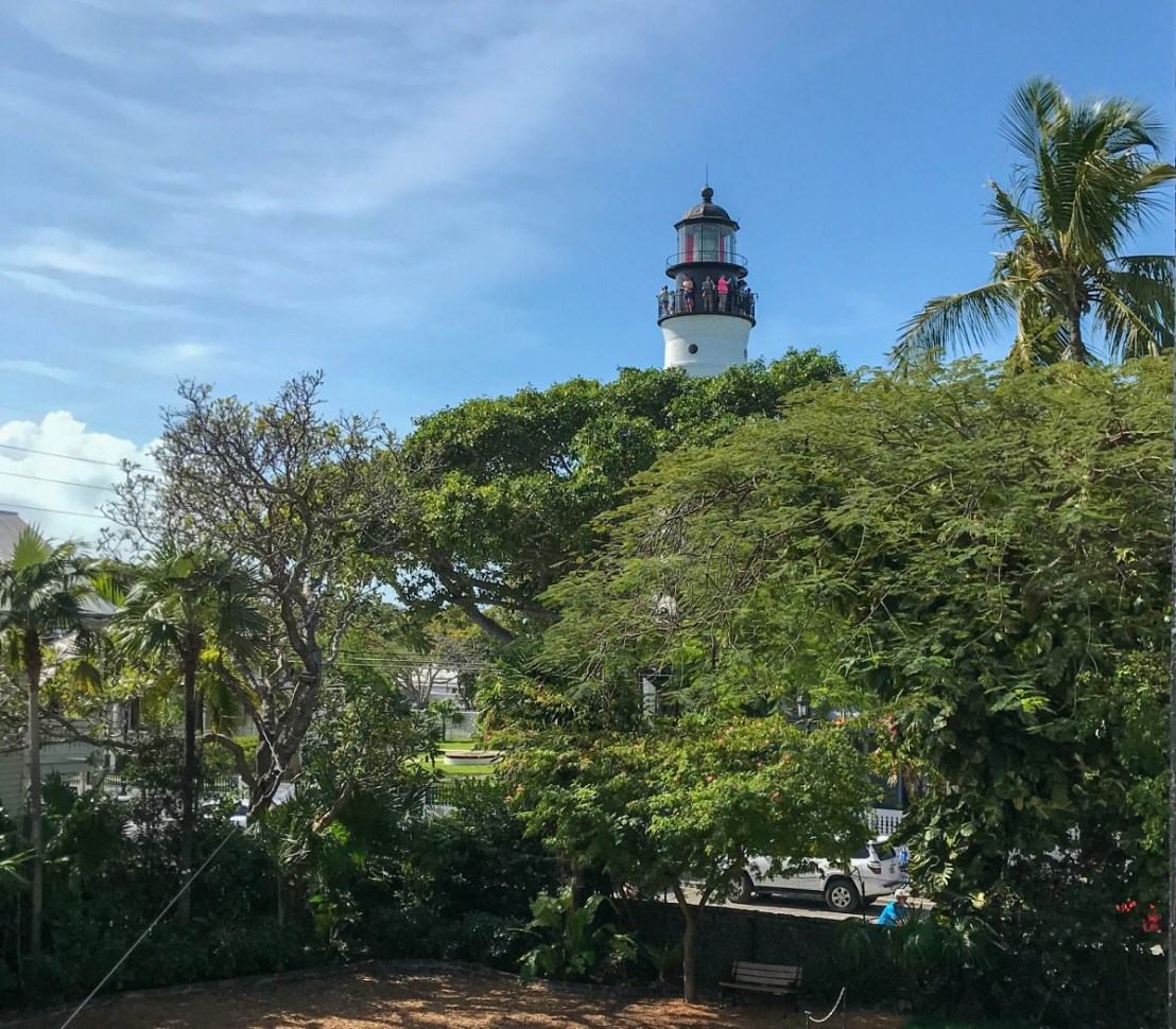 Key West Light House and Keeper's Quarters Museum Visible From Hemingway's House