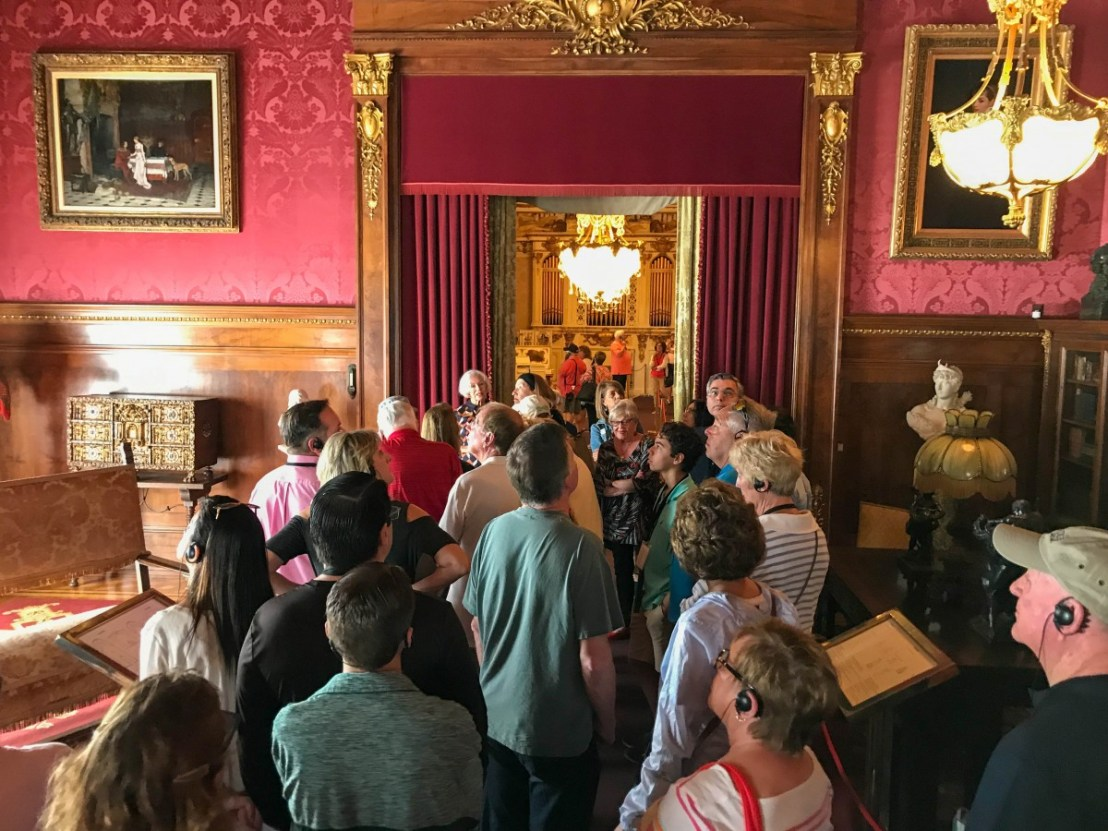 Whitehall Docent Led Tour in Library