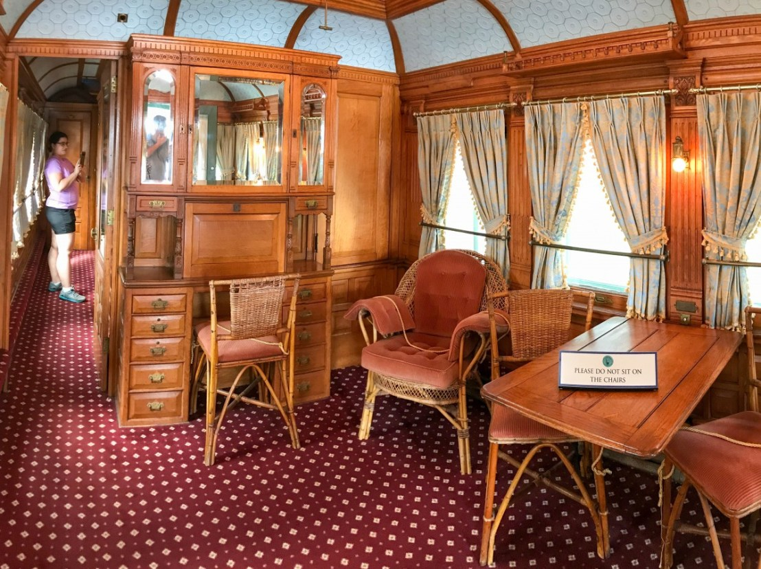 Flagler's Personal Railcar Sitting Room