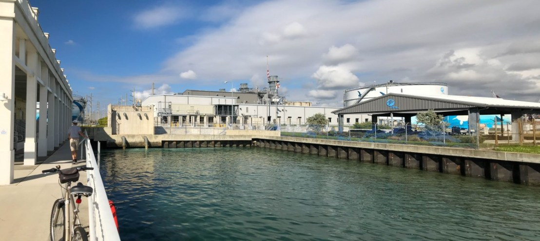 Manatee Lagoon With FPL Power Generation Plant In Background