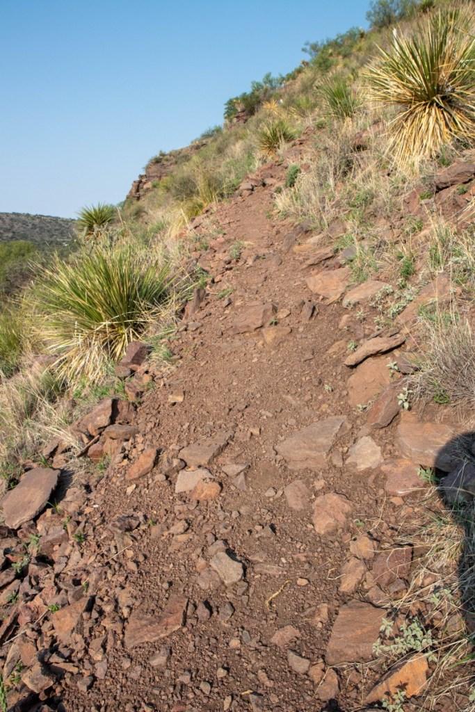 Trail Turns Downhill