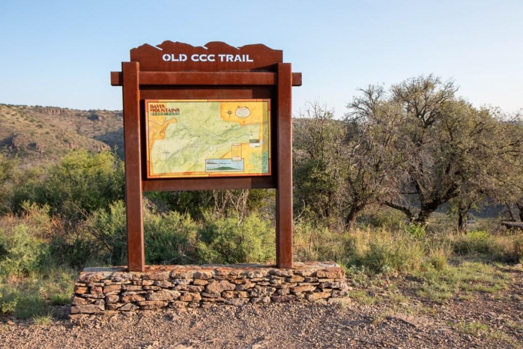 Old CCC Trail Trailhead Marker