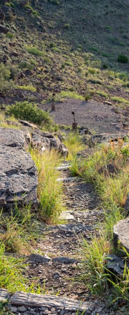 Stone Stairs Down To Three Trailheads
