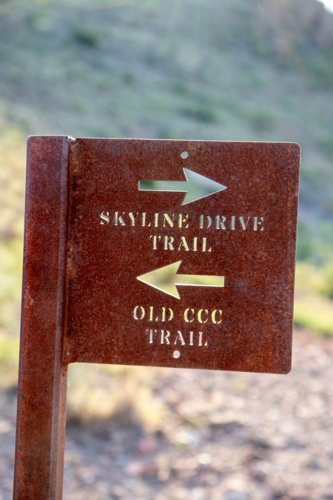 Skyline Drive and Old CCC Trail Marker