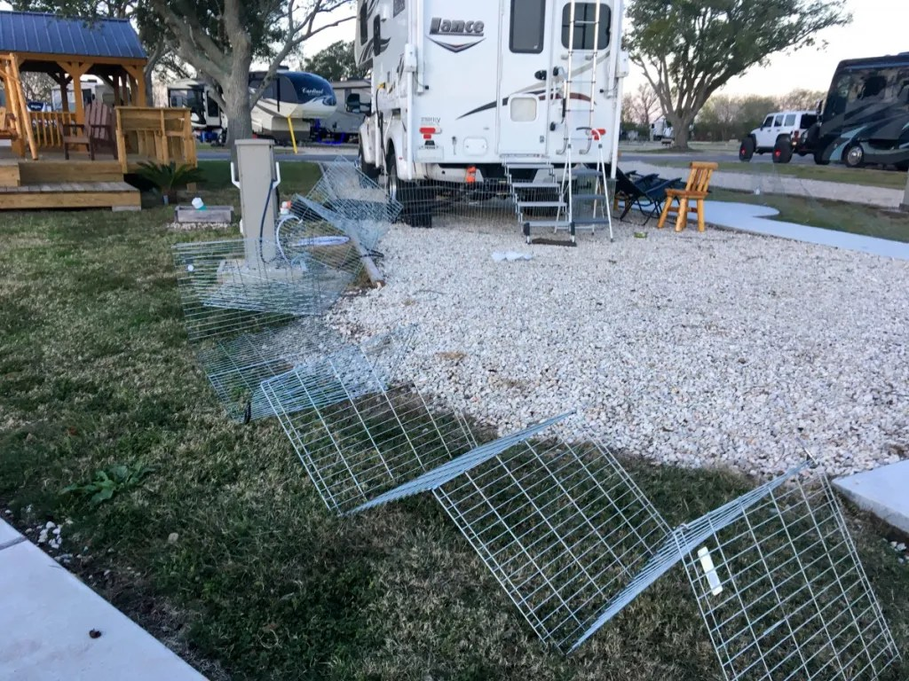 Portable Dog Kennel/Fencing Downed By Storm
