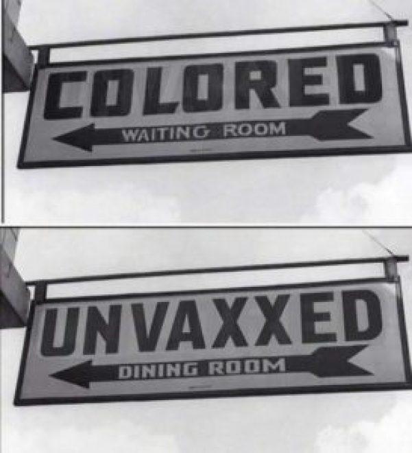 segregation colored unvaxxed