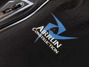 custom logo on weatherproof rain jacket