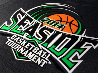 Pacific Basketball League Tournament 2014 screenprinted hoodies