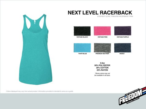 Next Level Racerback Tank - Freedom stock colors 2015