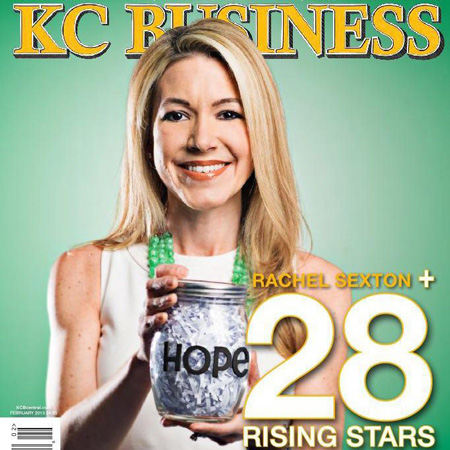 Rachel Sexton on the cover of KC Business Magazine