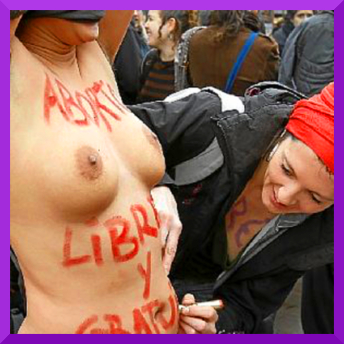 Demos in Spanish State for Womens' Reproductive Rights (3/5)