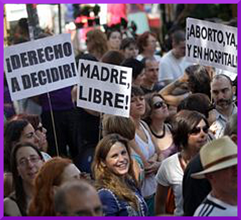 Demos in Spanish State for Womens' Reproductive Rights (1/5)