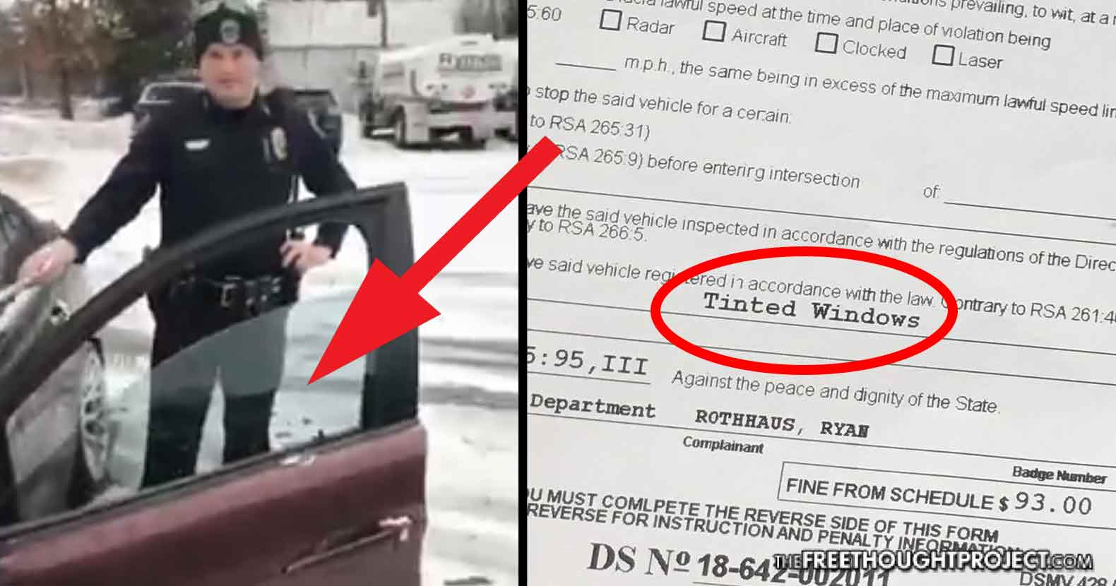 Exclusive Cop Pulls Man Over Tickets Him For Illegal Tint But His Windows Have No Tint