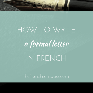 write formal letter french