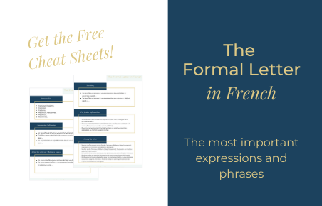Cheat Sheets – The Formal Letter in French