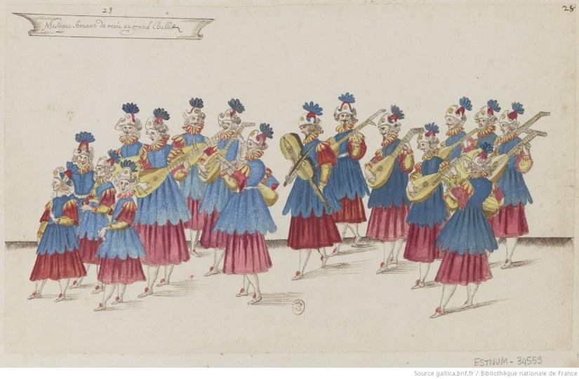 Musique servant de récit au Grand ballet (1625).
