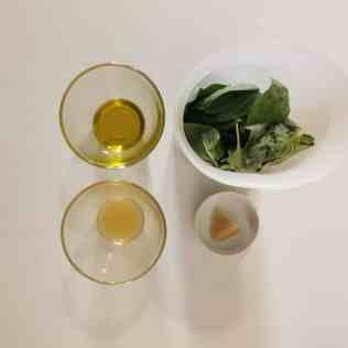ingrédients pour pesto basilic