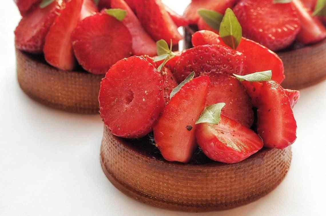 Tartelette fraise basilic