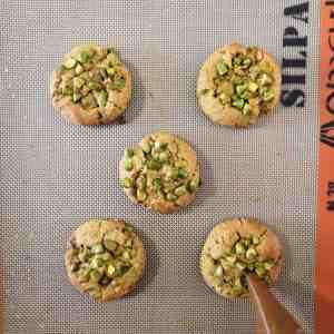 Cookies pistache et caramel