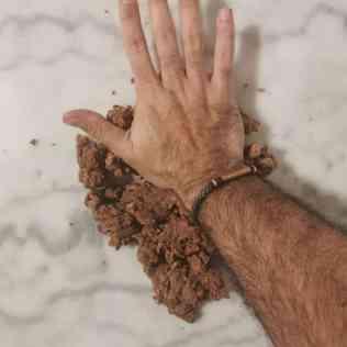 pâte sucrée chocolat en cours de frasage