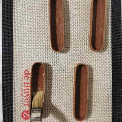 pâte sucrée choco dorée avant deuxième cuisson