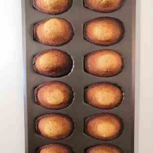 madeleines cuites sur plaque