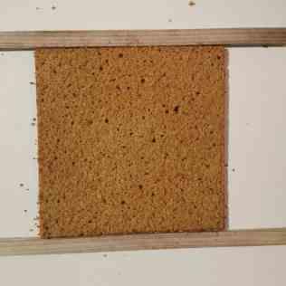 Biscuit coco découpé sur 5mm dépaisseur