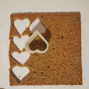 Biscuit coco détaillé en forme de coeur