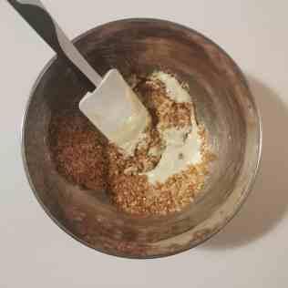 Mélange coco, gavottes et chocolat blanc