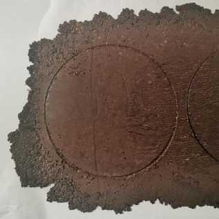 Sablé cacao reconstitué détaillé