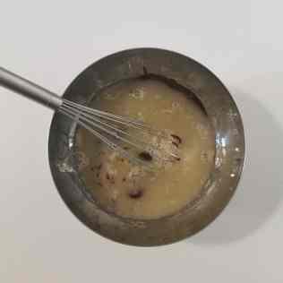 glaçage miroir mélangé au chocolat