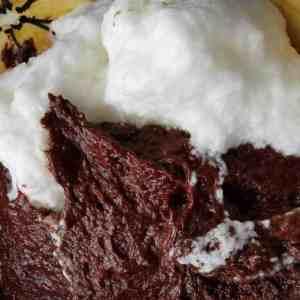 incorporation blancs montés biscuit sans farine au chocolat