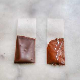 Chocolat tempéré et non tempéré