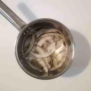 copeaux de coco dans sirop