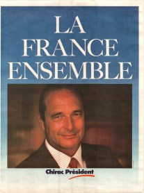 Chirac's poster in 1995