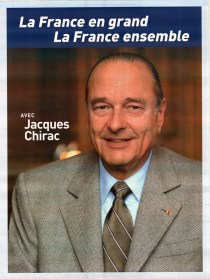 Chirac's poster in 2002