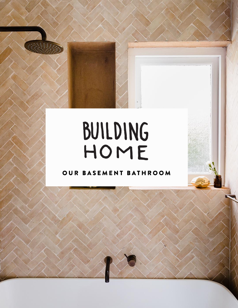 Creating a earthy and minimal bathroom for our basement on The Fresh Exchange with Fireclay Tile
