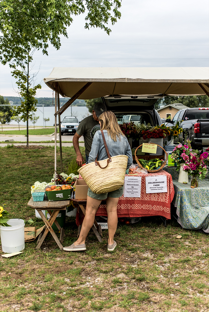 How to build a dinner from the Farmer's Market on The Fresh Exchange.