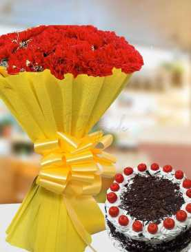 Love of Chocolate and Carnations