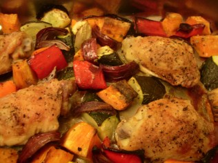 one-tray roast chicken and vegetables_5