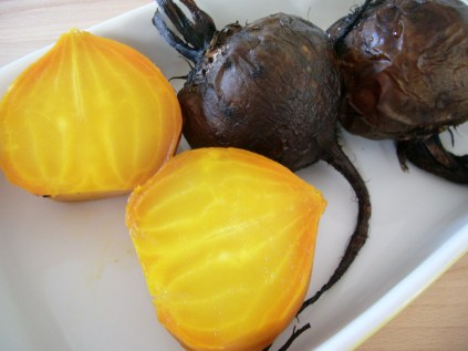 Roasted golden beetroot