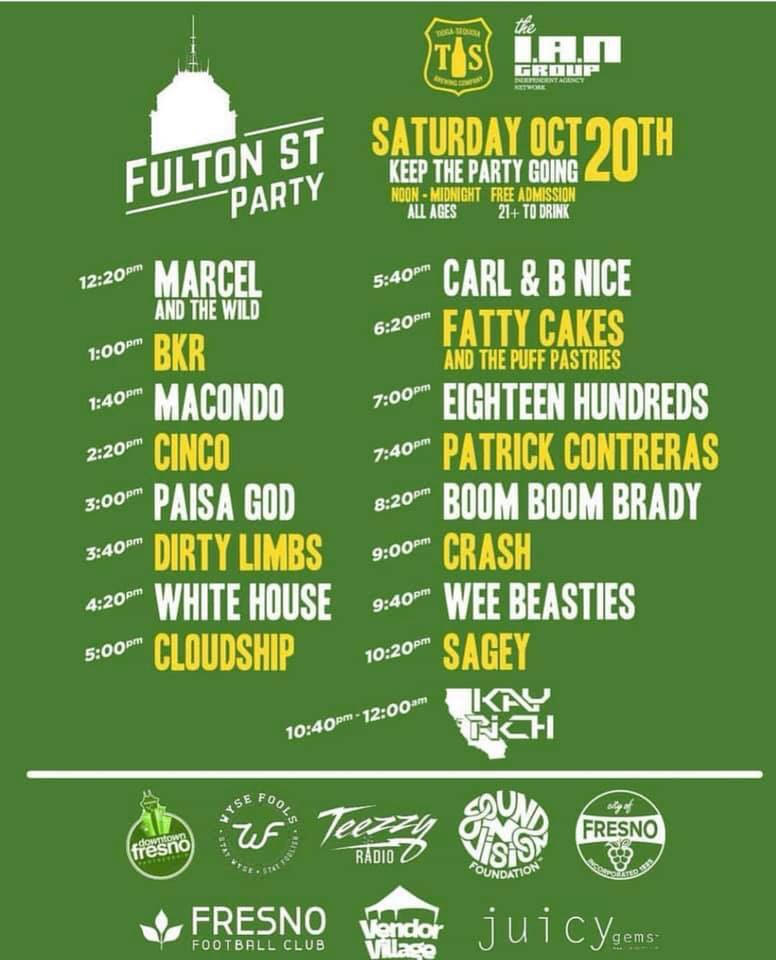 Fulton Street Party set list 2018
