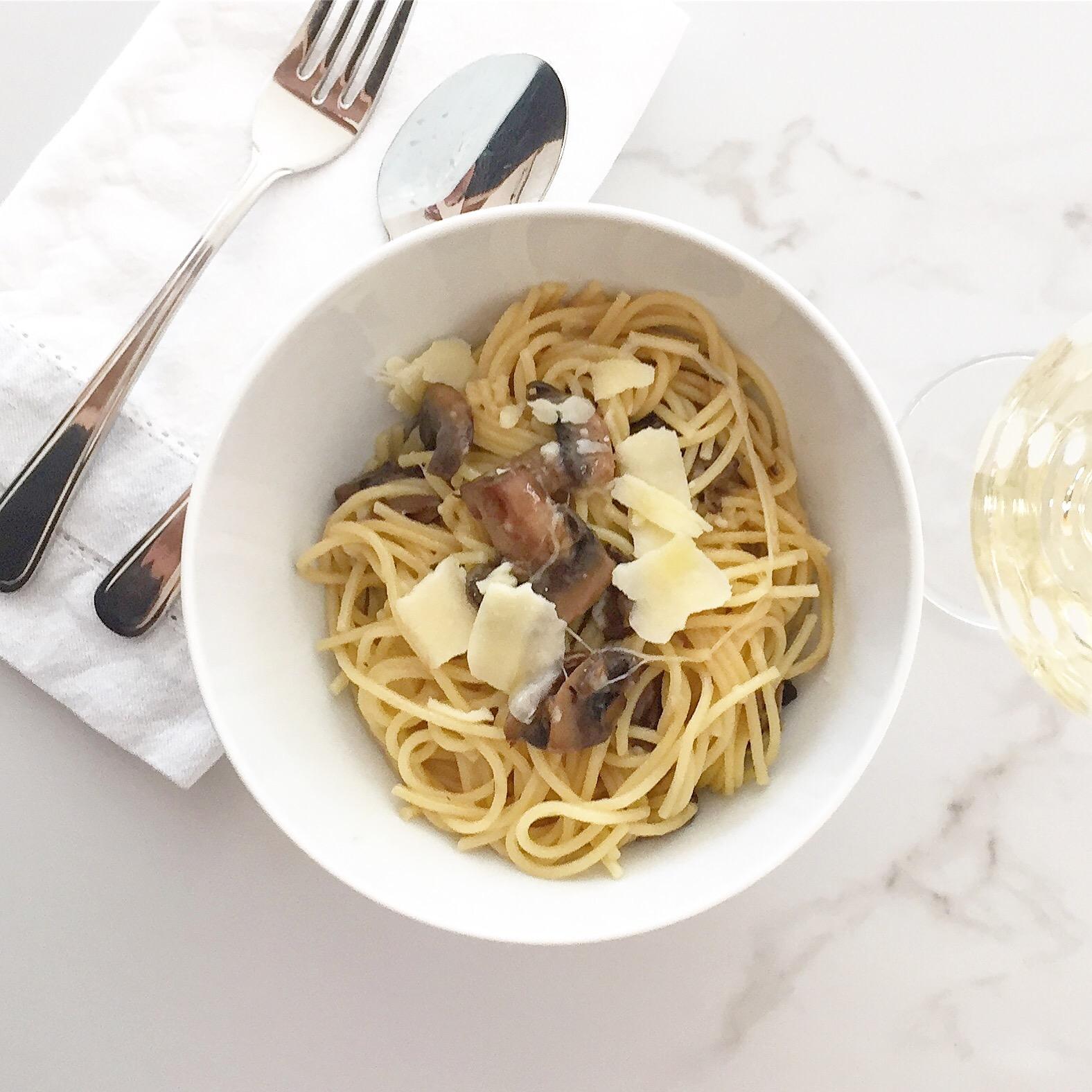 Mushroom Truffle Parmesan Pasta