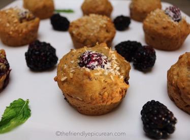 Blackberry Cardamom Muffins (vegan, gluten free)